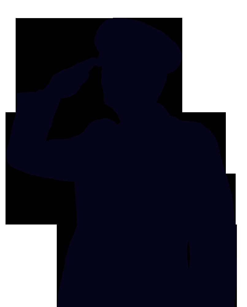 Saluting soldier