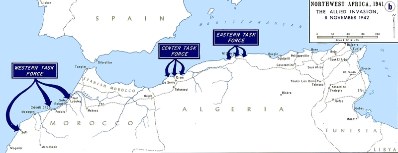 Operation torch   map