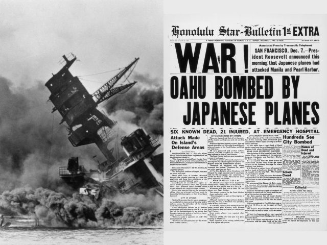 Uss arizona sinking pearl harbor newspaper december 7 1941 ap getty 640x480